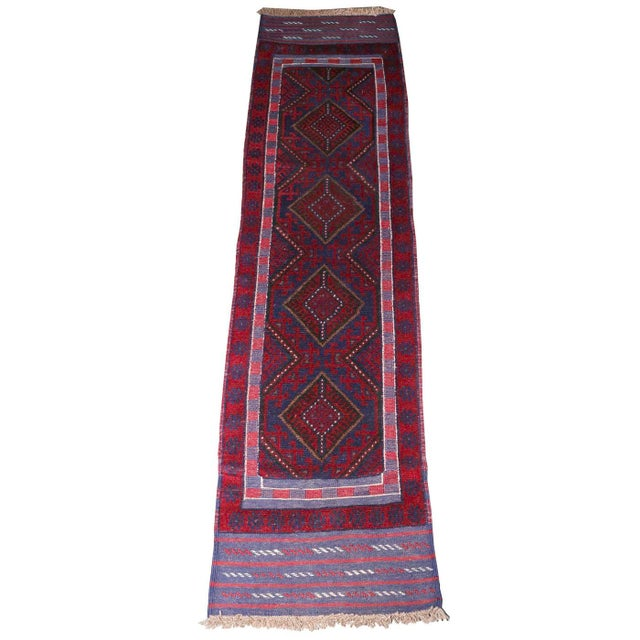 Vintage Mid-Century Hand-Knotted Baluch Runner Rug - 2′1″ × 8′2″ For Sale - Image 6 of 6