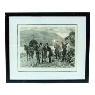 Irish Illustration Posting the Government Proclamation in Connemara For Sale