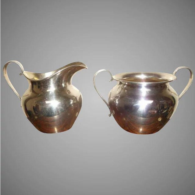 Sterling Silver Sugar and Creamer by International Silver Co. For Sale - Image 11 of 11
