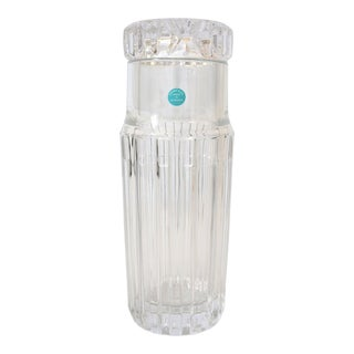Tiffany and Company Water Carafe Decanter Crystal Atlas Collection For Sale