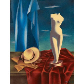 Dominish Still Life With Marble Torso 1950 For Sale
