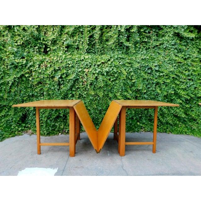 Mid-Century Modern 1937 Swedish Bruno Mathsson Folding Table For Sale - Image 3 of 12