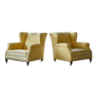 Pair of Large English-Style Over-Sized Club Chairs, Denmark, 20th Century For Sale