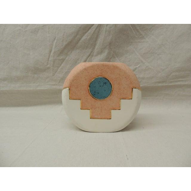 Southwestern Round Ceramic Vase - Image 2 of 5