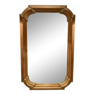 Cartouche-Shaped Wood Wall Mirror For Sale