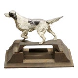 Image of Vintage Cast Iron Pointing Setter Dog Door Stop For Sale