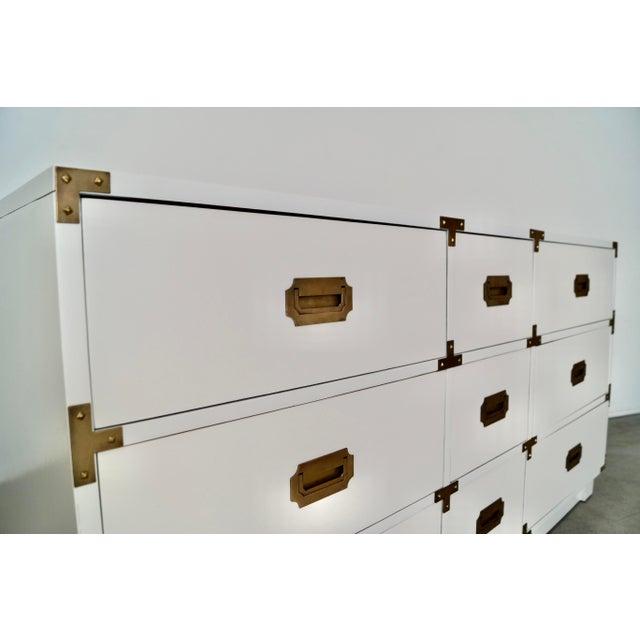 1960s Drexel Campaign Hollywood Regency Dresser For Sale - Image 10 of 13