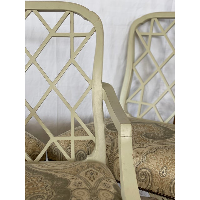 Clive Daniel Fretwork Chairs - Set of 3 For Sale - Image 10 of 13