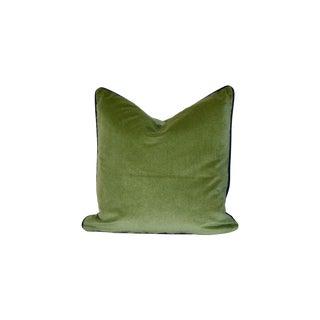 Handmade Velvet Herringbone Pillow For Sale