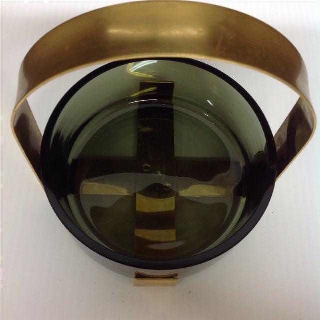 Fontana Arte Glass & Brass Bowl Max Ingrand For Sale - Image 5 of 5