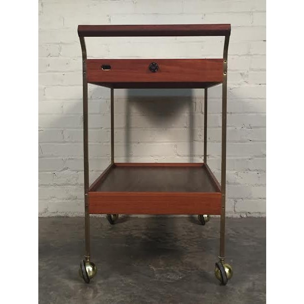 Mid-Century Modern Salton Hot Tray Cart For Sale - Image 4 of 9