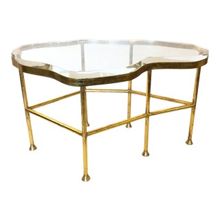 Bungalow 5 Large Cristal Brass and Acrylic Cocktail Table For Sale