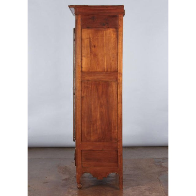 French Louis XV Cherrywood Bonnetiere Armoire, 18th Century - Image 11 of 11