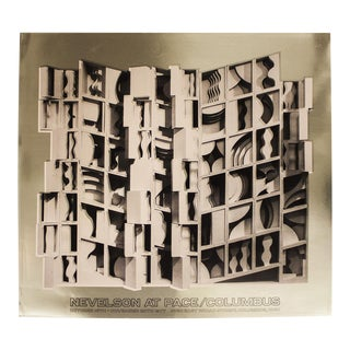 Louise Nevelson-At Pace Columbus (Gold)-1977 Foil Print-Signed For Sale