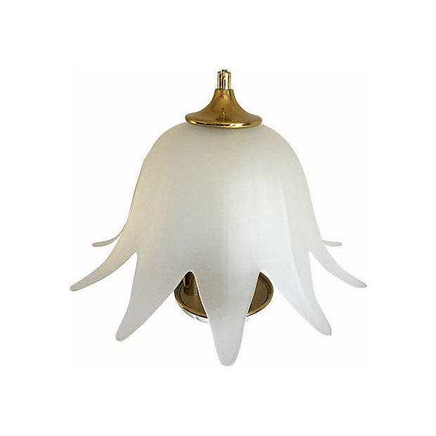 Italian Lotus Chandelier by Fabbian For Sale In Austin - Image 6 of 9