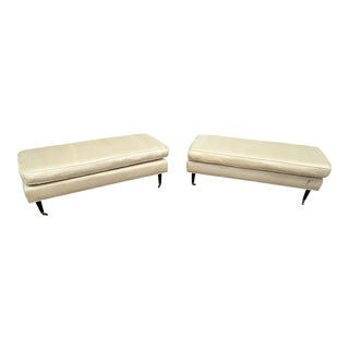 Late 20th Century Vintage Maison Jansen Style Window Benches- A Pair For Sale