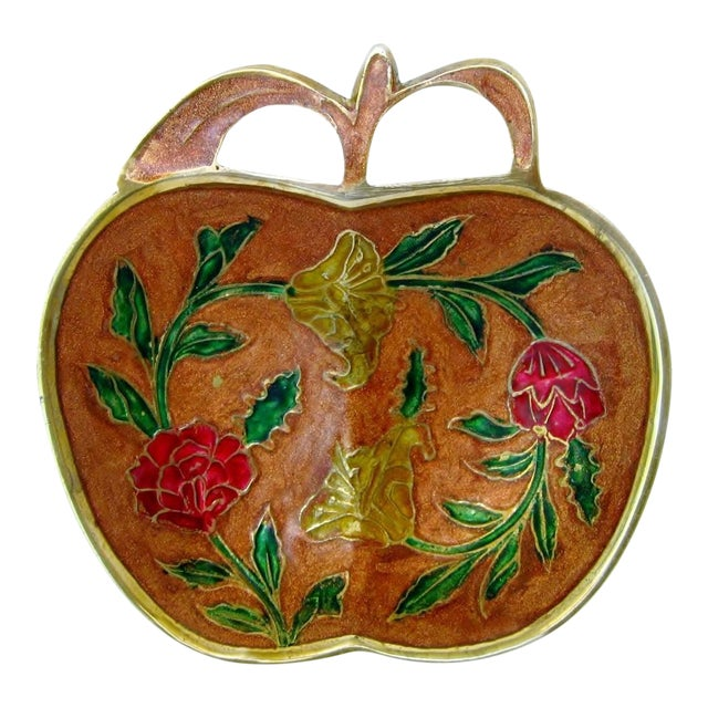 Enameled Trinket Dish For Sale