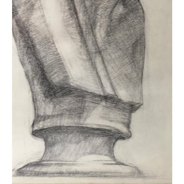 Academy Style Charcoal on Paper For Sale - Image 4 of 9