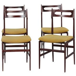 Set of Four Mid Century Italian Frattini Style Chairs