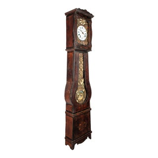 French Comtoise Grandfather Clock With Automated Pendulum For Sale
