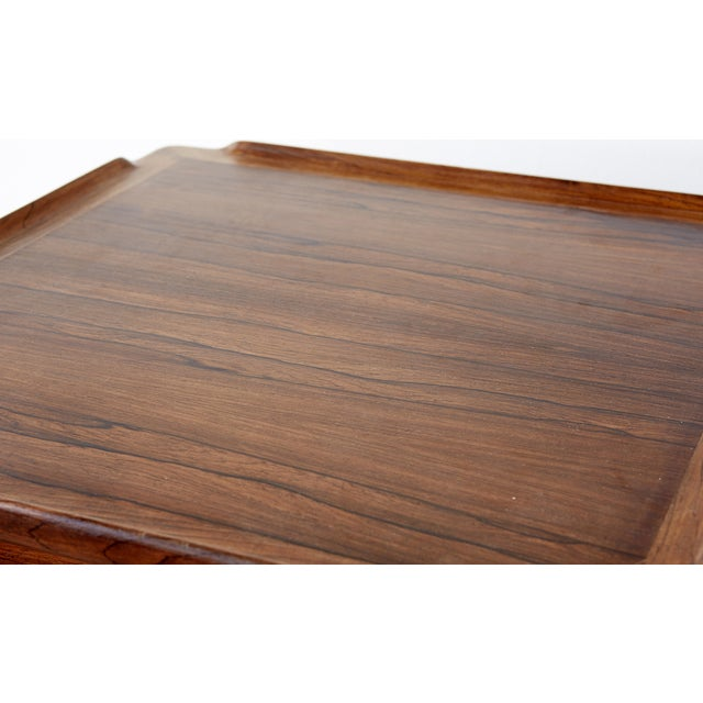 Poul Jensen Rosewood & Cane Side Table - Image 5 of 7