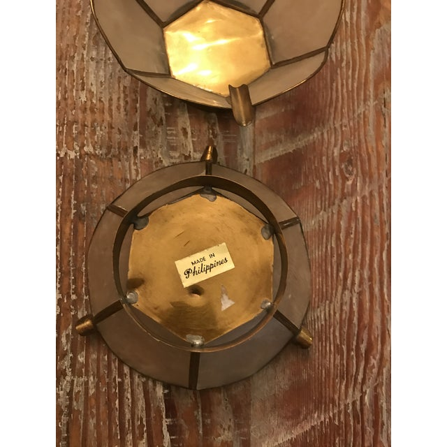 Vintage Lotus Brass Candle Holders - A Pair - Image 5 of 9