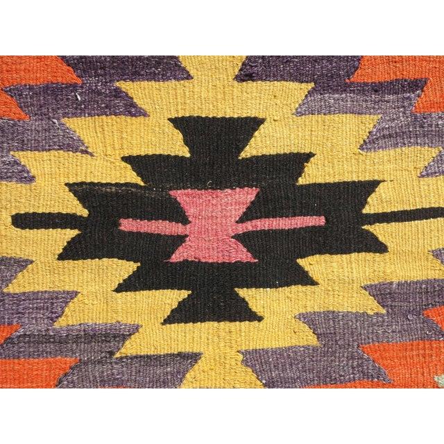 Textile Anatolian Turkish Classic Kilim Rug For Sale - Image 7 of 13