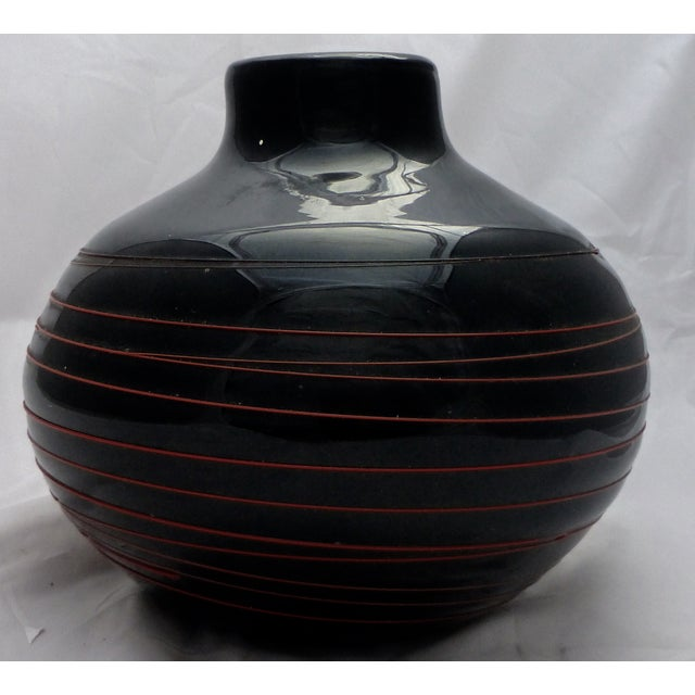 Mid Century Japanese Kamei Art Glass For Sale - Image 4 of 8