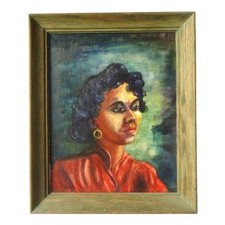 """""""Girl in Red"""" Painting by June Elliott Carlson"""
