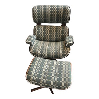 Plycraft Mid-Century Zak & Fox Fabric Chair & Ottoman