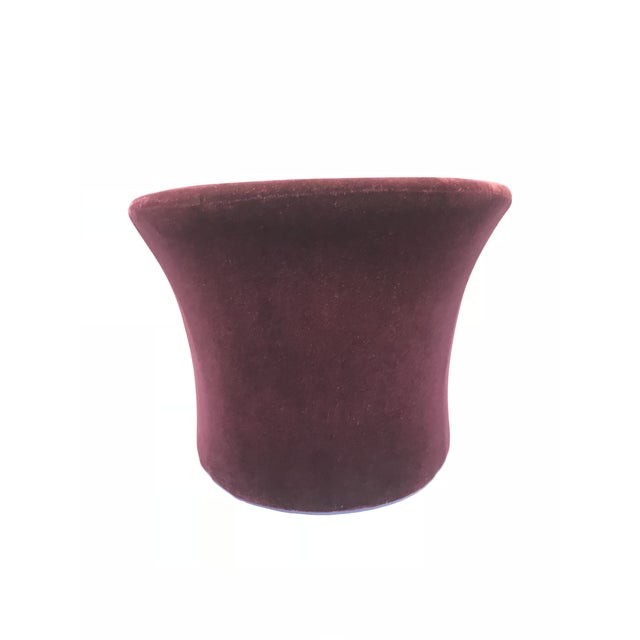Massimo Vignelli Dark Plum Mohair Club Chairs by Massimo Vignelli For Sale - Image 4 of 10