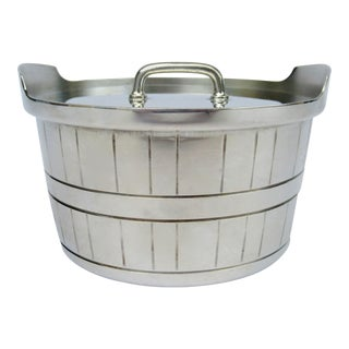 Gorham Silver Plate Bushell-Shaped Lidded Tea Caddy Container For Sale