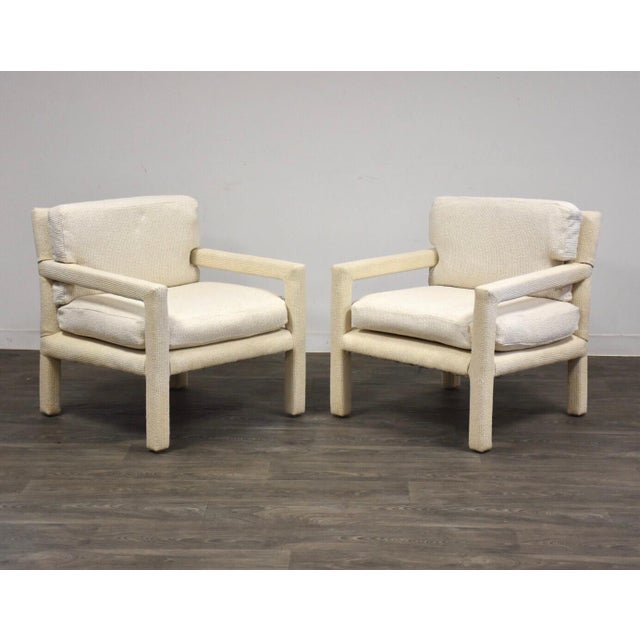 Milo Baughman for Thayer Coggin Parsons Chairs- a Pair For Sale - Image 10 of 10