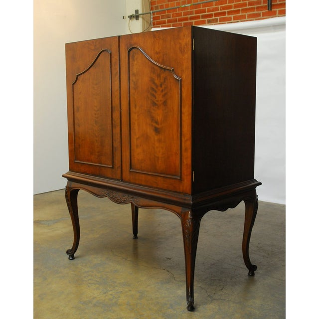 Louis XV Style Carved Walnut Cabinet on Stand - Image 4 of 10