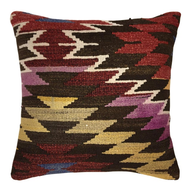 "Rug & Relic Vintage 20"" Kilim Pillow For Sale"