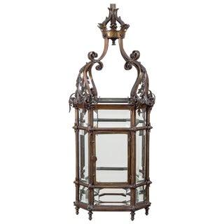Gothic Reform Bronze Lantern For Sale