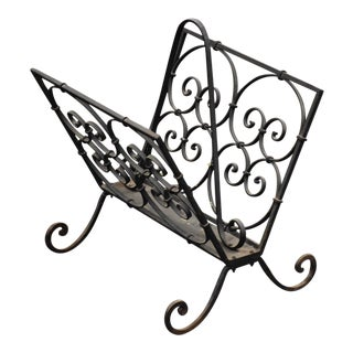 Wrought Iron Magazine Rack For Sale