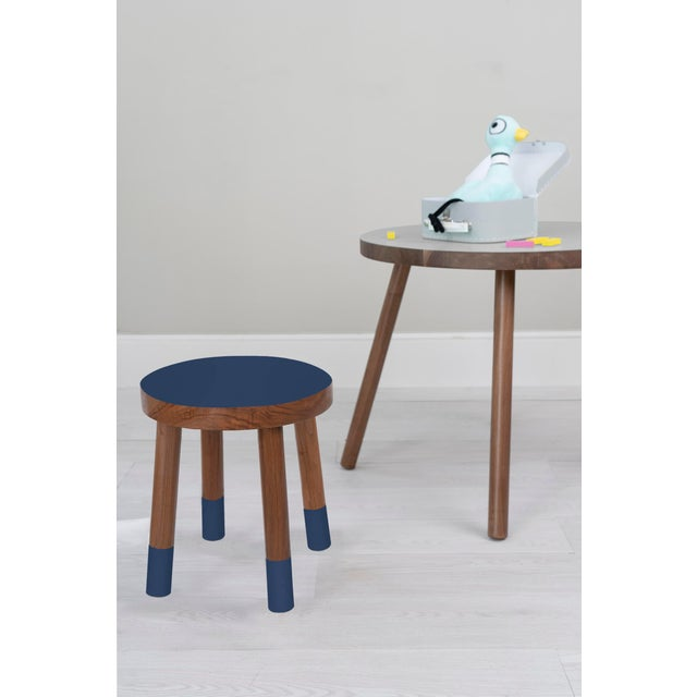 Poco Solid Walnut Wood Kids Chair. Color is catnip for kids, with bright and bold top and toes our Poco stool becomes a...