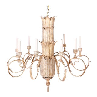 20th Century Eight Light Acanthus Leaf Chandelier For Sale