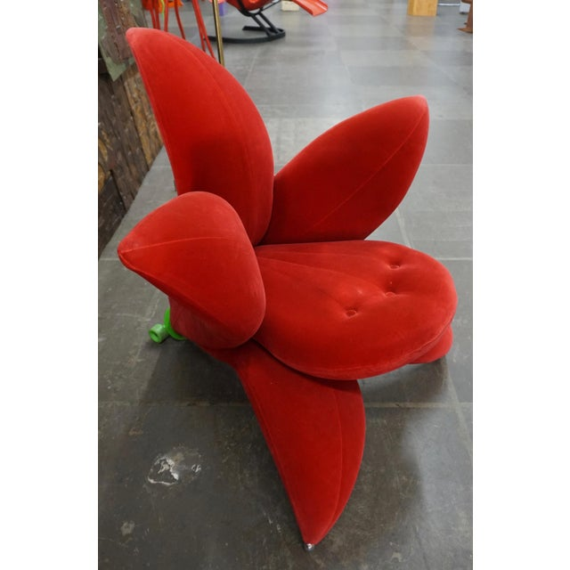 Red Getsuan (Lily) Chair by Masanori Umeda For Sale - Image 8 of 8