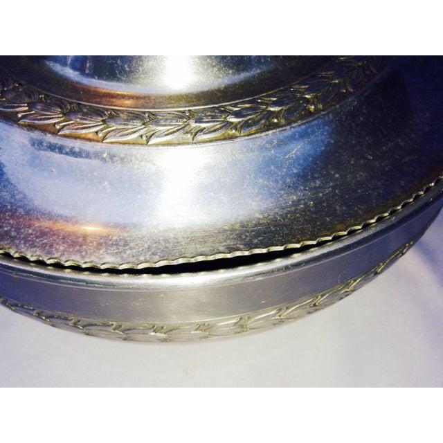 Vintage Medieval Pewter Aluminum Server For Sale - Image 10 of 12