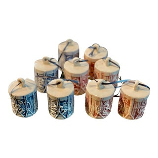 Handmade Drums Ornaments, S/9 For Sale