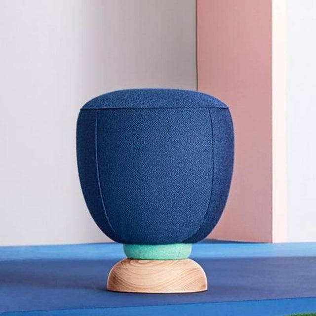 Wood Toadstool Collection Ensemble Sofa, Table and Puffs, Masquespacio For Sale - Image 7 of 13