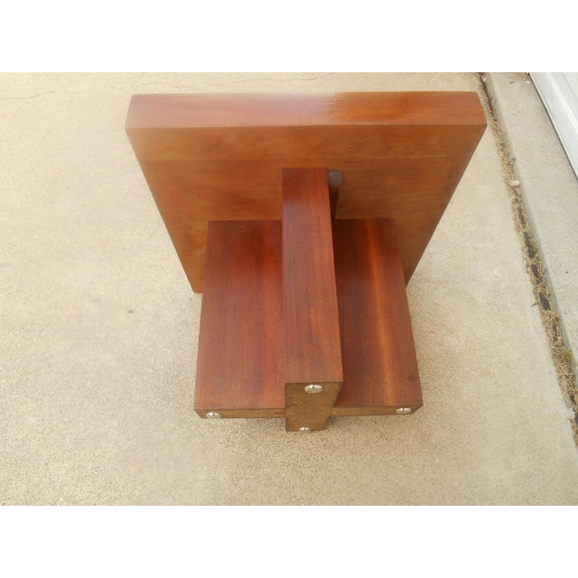 Mid-Century Danish Modern Walnut End Table - Image 6 of 6