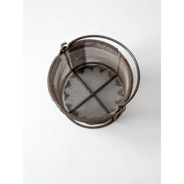 Vintage Wire Mesh Bucket With Handle - Image 6 of 8