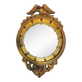 Antique Federal Bulls-Eye Eagle Convex Mirror For Sale