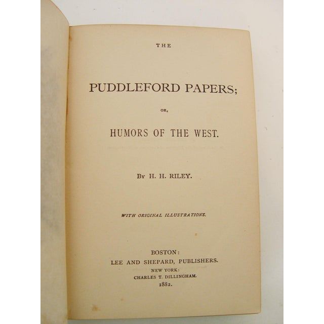 Puddleford Papers,1882 - Image 4 of 5