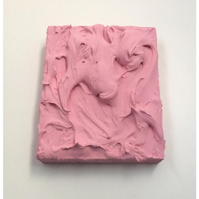 Pink Insulation Excess Sculptural Painting For Sale In Austin - Image 6 of 8