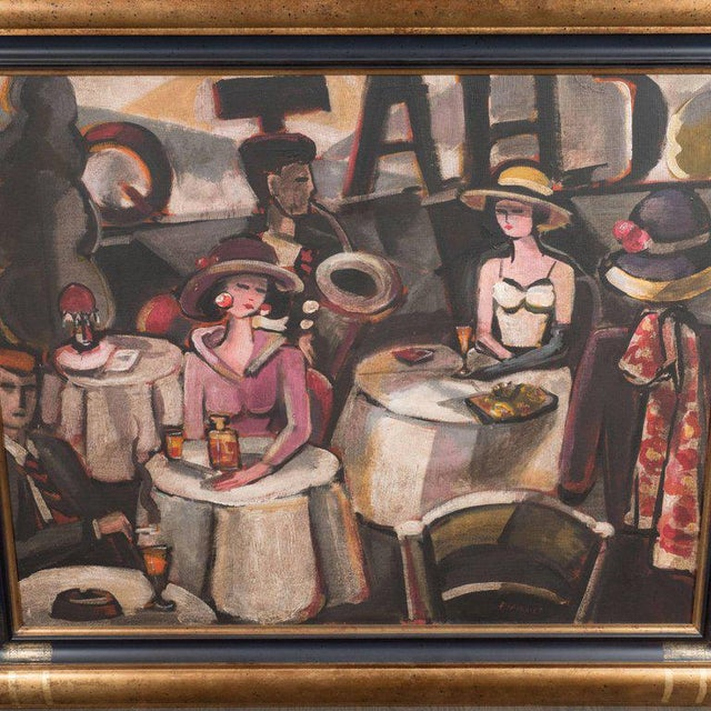 This striking oil on canvas painting was realized circa 1945 by the renowned French painter Francois Chabrier. It features...