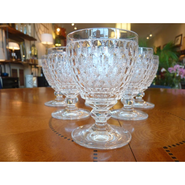 Multi Faceted Crystal Water Goblets - 6 - Image 2 of 7
